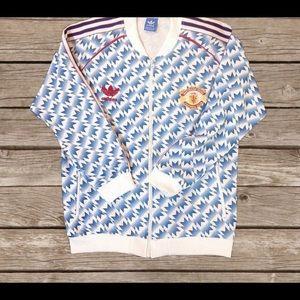 Manchester United men's zip up track jacket.
